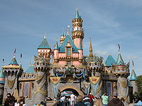 Sleeping Beauty Castle at Disneyland park.