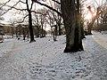 Snö i Eriksberg, Göteborg Jan 2012, Gångväg - panoramio.jpg
