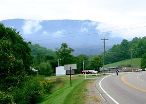 Johnson County, Tennessee - Snake Mountain, viewed from Trade