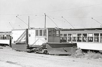 Twin City Rapid Transit Company - Snowplow streetcar, 1939.
