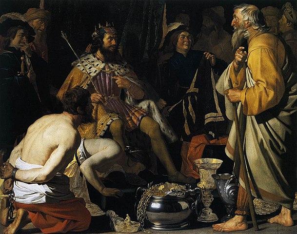 Г. Хонтхорст. «Солон и Крёз» (1624)