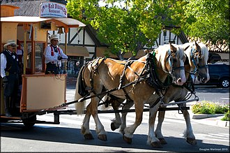 Solvang, California - Hønen or the Hen on a sightseeing tour