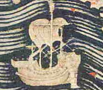 Maritime history of Somalia - Somali Beden ship from Fra Mauro's map.