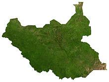 Il Sudan del Sud dal satellite.