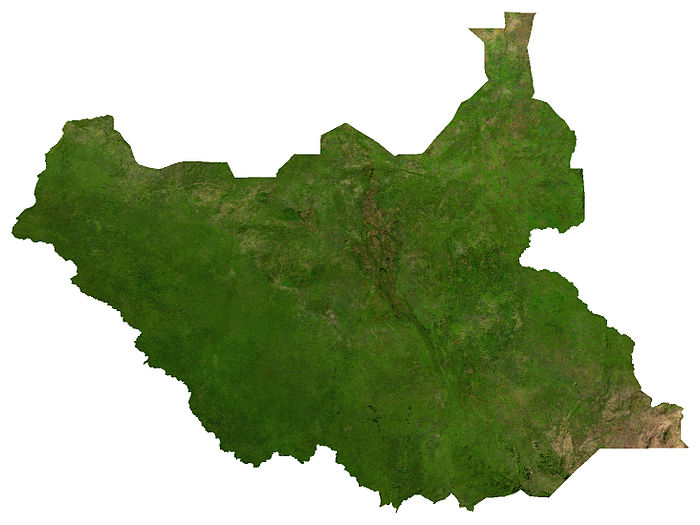 A satellite image of South Sudan South Sudan sat.jpg