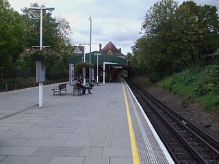 Southfields tube station London Underground station
