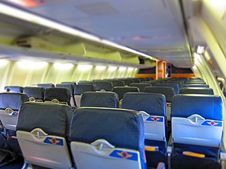 Southwest Airlines - Southwest Airlines spirit interior introduced in 2001, succeeded by the evolve interior