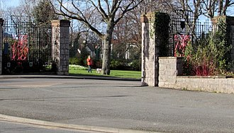 Eirias Park - The southwest entrance to Eirias Park