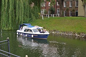 Spalding Water Taxi. On the River Welland at Coronation Channel, on way to Springfields Shopping Centre - Flickr - mick - Lumix.jpg