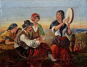 Francis William Topham - Image: Spanish Gypsies 1854 1855