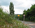 Speed camera before 'hairy' junction in Lea - geograph.org.uk - 444842.jpg