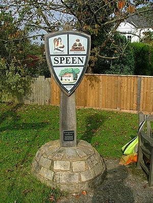 Speen, Buckinghamshire - Image: Speen village sign