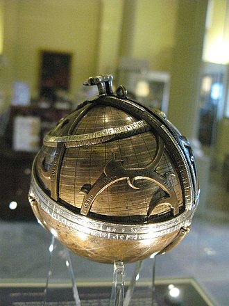Astrolabe - A spherical astrolabe from medieval Islamic astronomy, c. 1480, in the Museum of the History of Science, Oxford