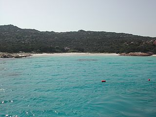 Budelli island in Italy