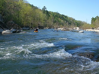 St. Francis River - Image: St. Francis River at Silver Mines Recreation Area 2