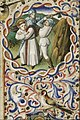 St. Martin, Bishop of Tours, attacked by robbers - Book of hours Simon de Varie - KB 74 G37 - 080r randfig 1.jpg