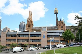 St Mary's Cathedral College, Sydney - The college from the Domain car park roof