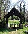 St Mary's Church, Rowner Lane, Rowner, Gosport (NHLE Code 1276419) (April 2019) (Lychgate).JPG