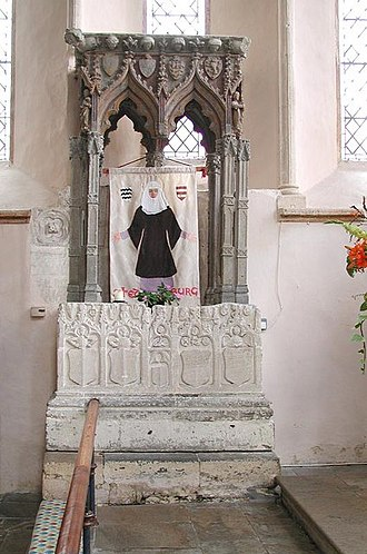 Stanton Harcourt - Shrine of St Edburg in St Michael's parish church, salvaged from Bicester Priory