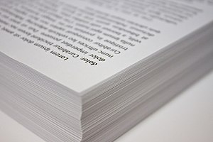 English: A stack of copy paper.