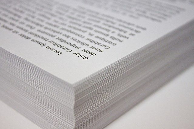 A stack of copy paper