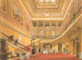 Stafford House central hall and principal staircase by Joseph Nash 1850.jpg