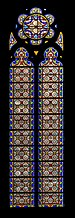 Stained glass window of the Saint John the Baptist Church in L'Union 03.jpg