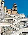 Stairs at Bratislava castle hill.jpg