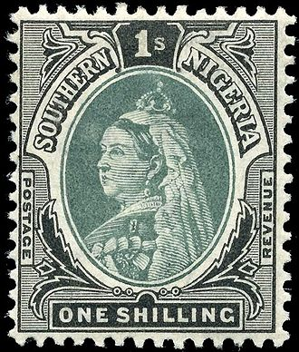History of Nigeria - Stamp of Southern Nigeria, 1901