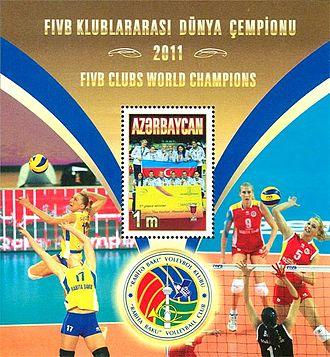 2011 FIVB Volleyball Women's Club World Championship - Image: Stamps of Azerbaijan, 2011 1014 suvenir