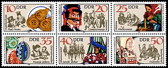 Sorbs - 1982 stamps from the East German period