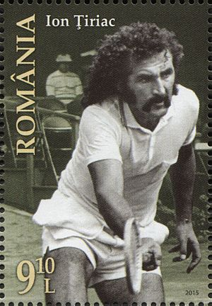 Ion Țiriac - Ion Tiriac on Romanian postage stamp