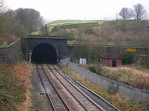 Standedge Tunnels - Diggle portal of the 1894 tunnel