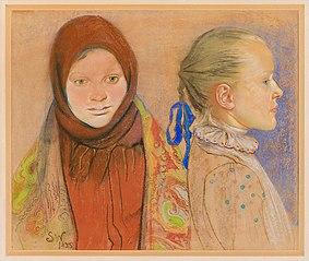 Portret dwóch dziewczynek
