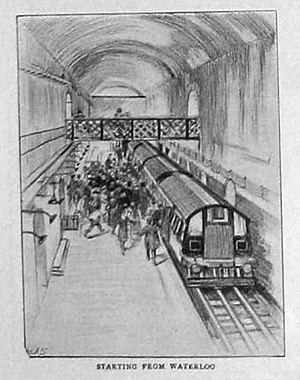 Waterloo & City line - Artist's impression of Waterloo station at opening to the public