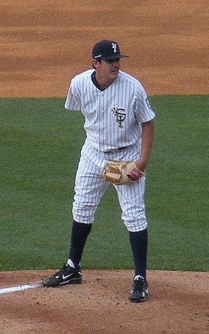 Staten Island Yankees - A pitcher for the Staten Island Yankees