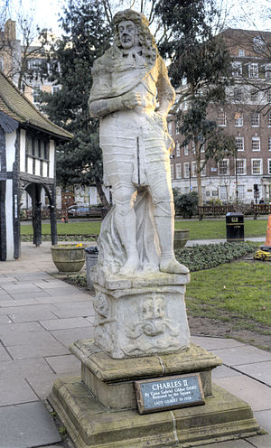 Statue of Charles II, Soho Square - The statue in 2015