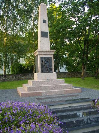 Põlva - The Estonian War of Independence monument in Põlva.
