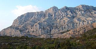 Montagne Sainte-Victoire mountain range in France