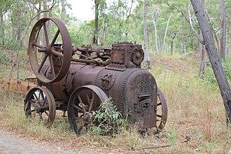 Wenlock Goldfield - Old steam engine - Wenlock Goldfields
