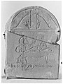 Stela depicting Anubis and a mummy on a bed for for Pachom-alal, son of Peteharsomtous MET 4068.jpg