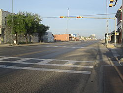 U.S. Highway 87 as it passes through Sterling City, Texas