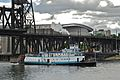 Sternwheel steam tug Portland after passing under Steel Bridge.jpg