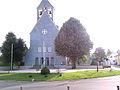 Stetten am kalten Markt, blaue Kirche, Außenansicht.jpg
