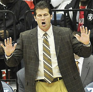 English: New Mexico Lobos head men's basketbal...
