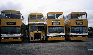 Julian Peddle - Stevensons of Uttoxeter fleet at Spath depot in 1988