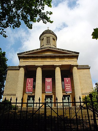 Commissioners' church - St George's Church, Brandon Hill, a Commissioners' church in a Neoclassical style by Robert Smirke