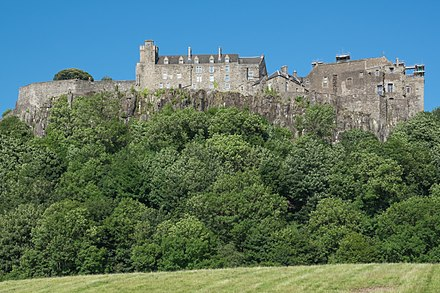Stirling Castle; the Jacobites spent two months unsuccessfully besieging the strongest fort in Scotland Stirling Castle 2017.jpg