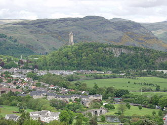 Henry de Percy, 1st Baron Percy - The view from Stirling Castle with the present Stirling Bridge in the foreground and the Wallace Monument in the middle distance