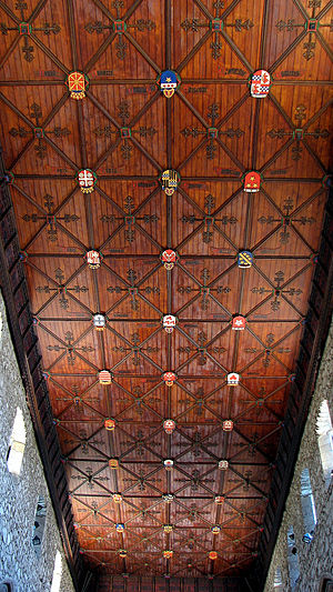 St Machar's Cathedral - Heraldic ceiling of St Machar's Cathedral